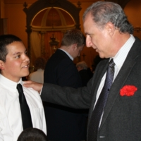 Pedro Arturo, Erik Camayd-Freixas at Interfaith Prayer Service.JPG