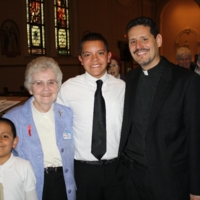 Sister Mary McCauley, Pedro Arturo, Pastor David Vasquez at Interfaith Prayer Service.JPG