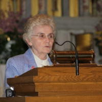 Sister Mary McCauley speaks at the Intefaith Prayer Service, Immaculate Conception Catholic Church.JPG