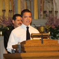 Pedro Arturo speaks at the Interfaith Prayer Service, Immaculate Conception Catholic Church.JPG